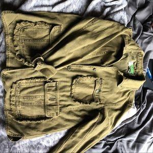 Anthropologie Utility Jacket Army Green